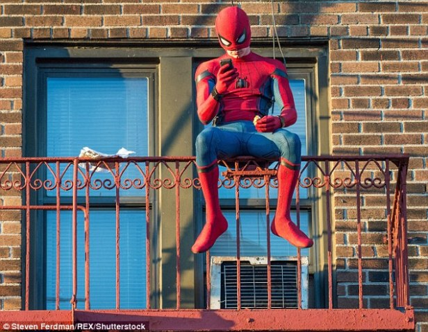 spiderman eating